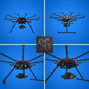 Dji S1000+ Octocopter With Lumix GH4 camera 3d model