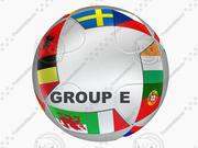 EURO 2016-2020 TEAMS AND GROUPS BALL 3d model