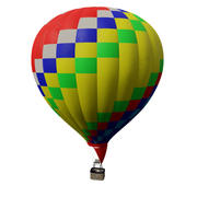 Realistische luchtballon 3d model