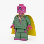 乐高漫威超级英雄视觉人仔 3d model