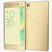 Sony Xperia X Leistung Lime Gold 3d model