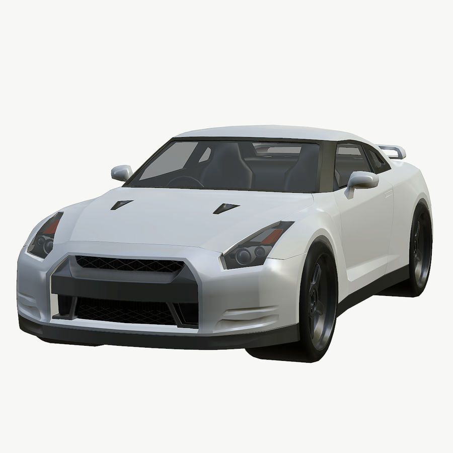 Nissan GTR royalty-free 3d model - Preview no. 1