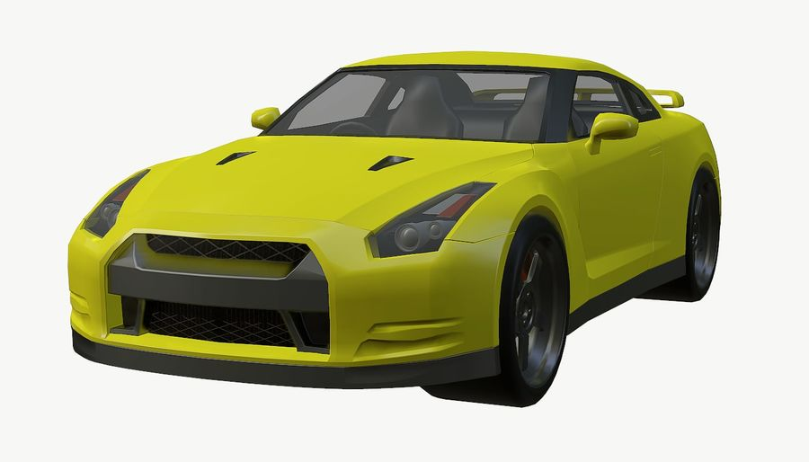 Nissan GTR royalty-free 3d model - Preview no. 15