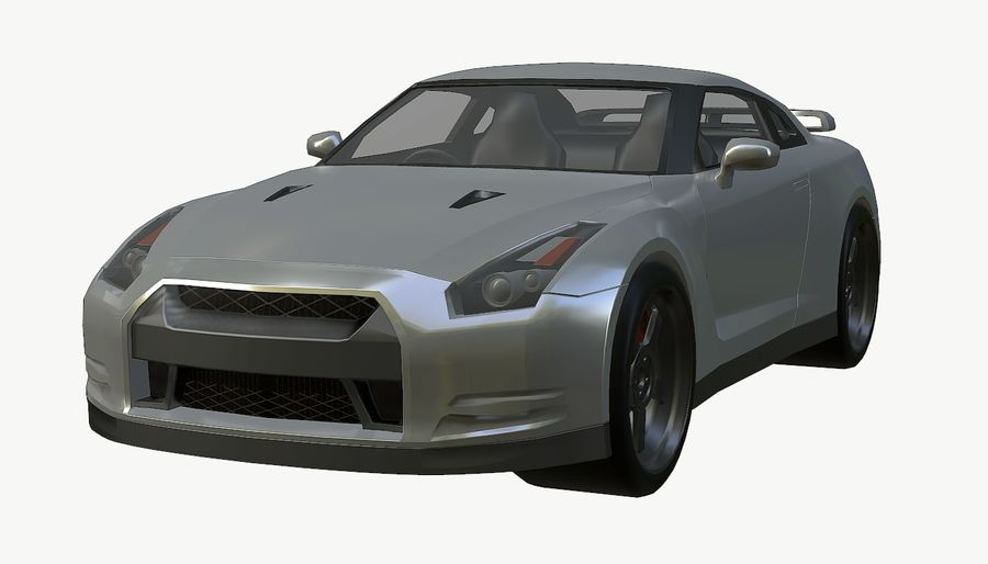 Nissan GTR royalty-free 3d model - Preview no. 12