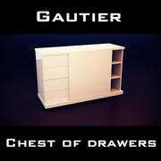 Gautier Wave Chest Of Drawers 3d model