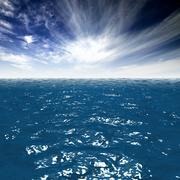 Ocean surface 3d model