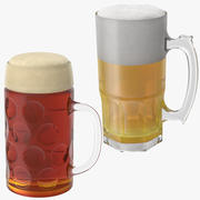 Two Beer Mugs 3d model