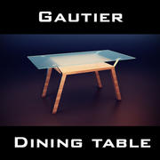 Gautier Cocktails-tafel 3d model
