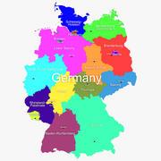 Mappa della Germania 3d model