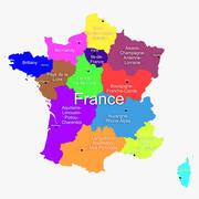 Frankrijk kaart 3d model