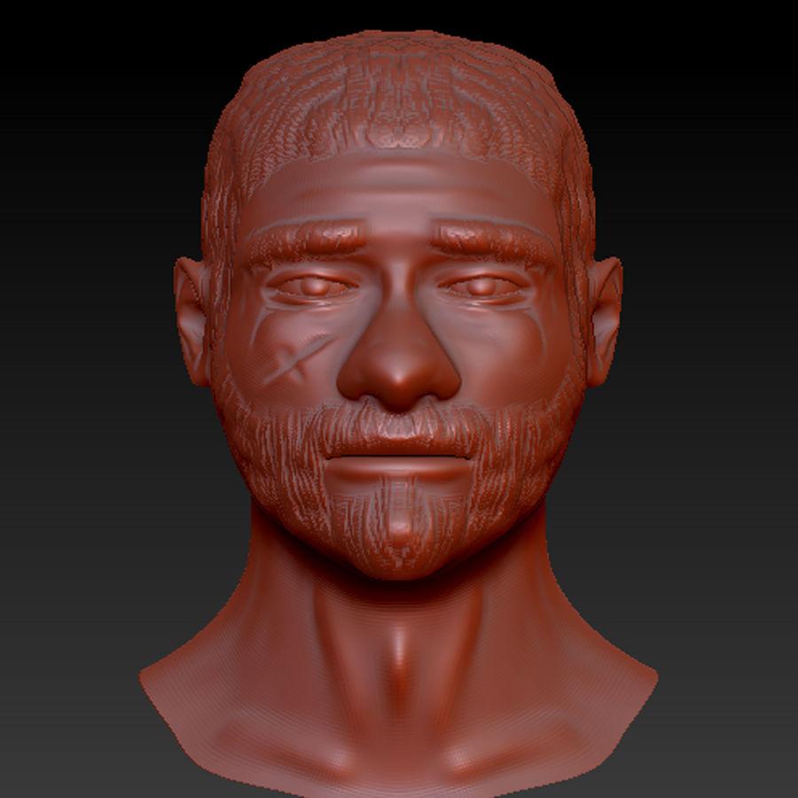 мужское лицо royalty-free 3d model - Preview no. 5
