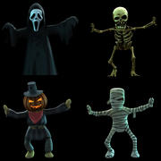 Halloween cartoon ghost 3d model