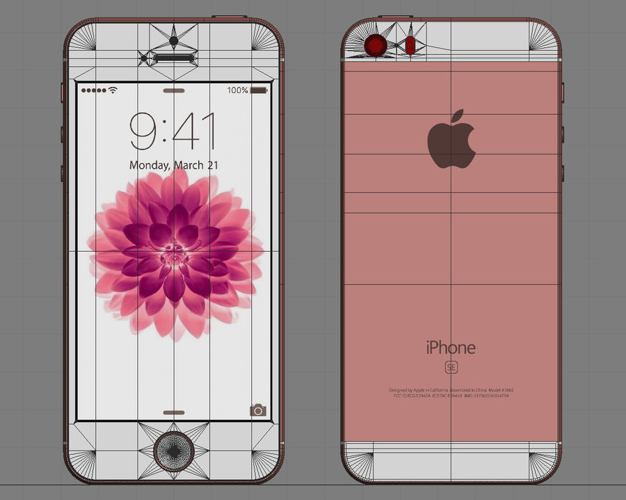 iPhone SE royalty-free 3d model - Preview no. 21