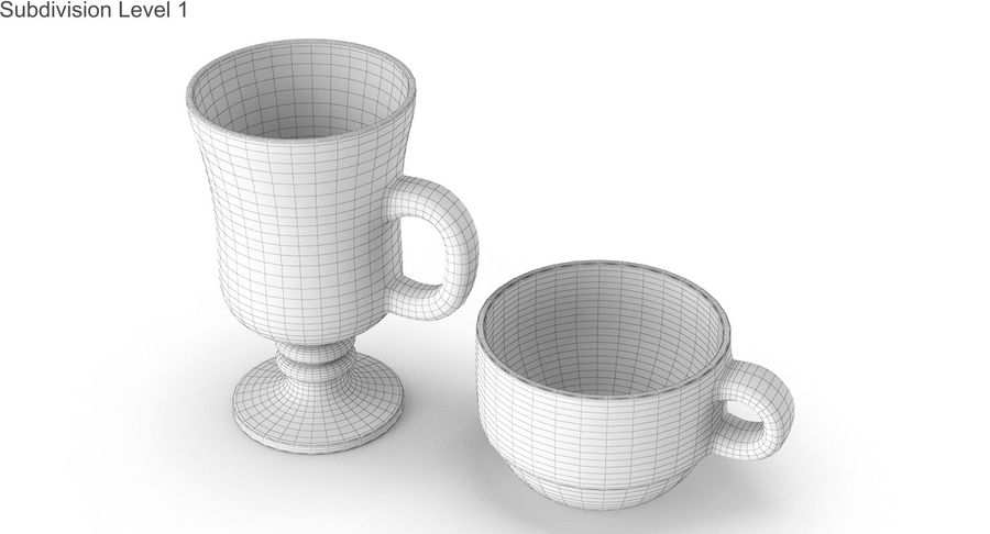 Glass Hot Drink Punch royalty-free 3d model - Preview no. 34