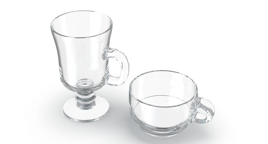 Glass Hot Drink Punch royalty-free 3d model - Preview no. 3