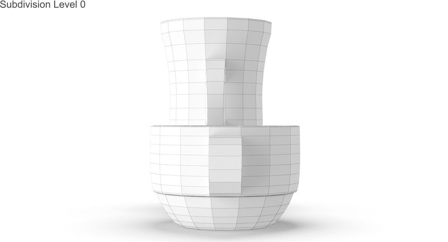 Glass Hot Drink Punch royalty-free 3d model - Preview no. 33