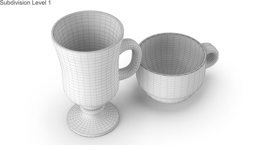Glass Hot Drink Punch royalty-free 3d model - Preview no. 35