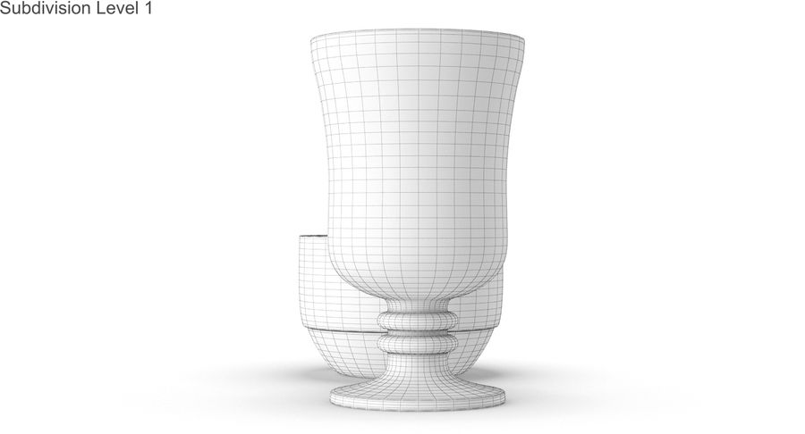 Glass Hot Drink Punch royalty-free 3d model - Preview no. 47