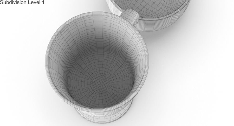 Glass Hot Drink Punch royalty-free 3d model - Preview no. 41