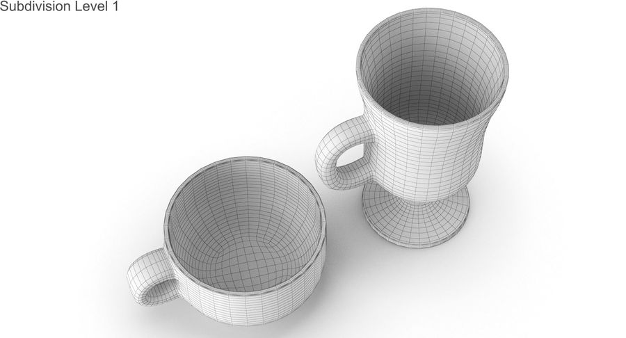 Glass Hot Drink Punch royalty-free 3d model - Preview no. 38