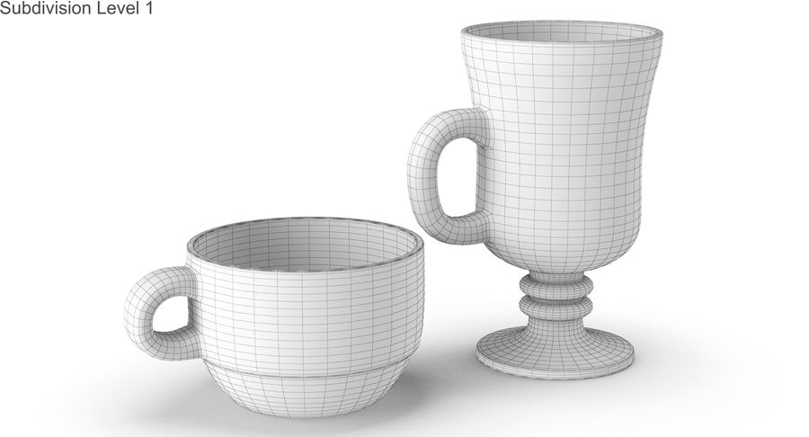 Glass Hot Drink Punch royalty-free 3d model - Preview no. 37