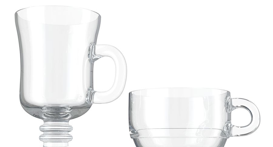 Glass Hot Drink Punch royalty-free 3d model - Preview no. 11