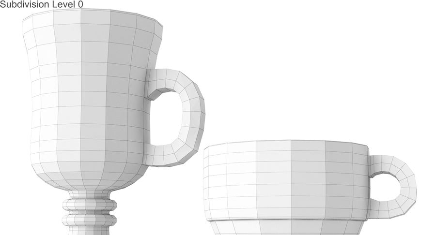 Glass Hot Drink Punch royalty-free 3d model - Preview no. 27