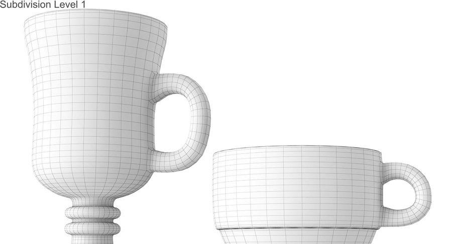 Glass Hot Drink Punch royalty-free 3d model - Preview no. 42