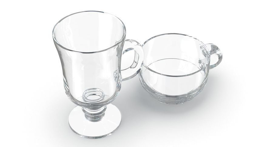 Glass Hot Drink Punch royalty-free 3d model - Preview no. 4