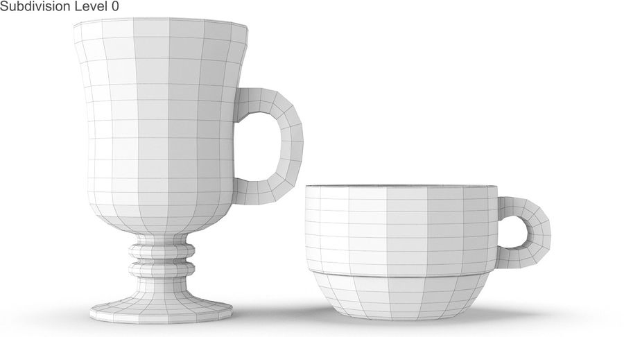 Glass Hot Drink Punch royalty-free 3d model - Preview no. 31