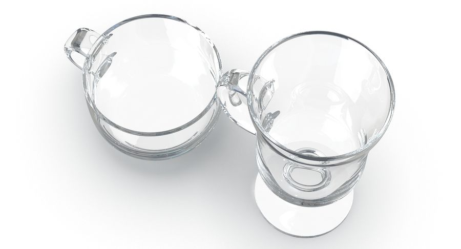 Glass Hot Drink Punch royalty-free 3d model - Preview no. 8