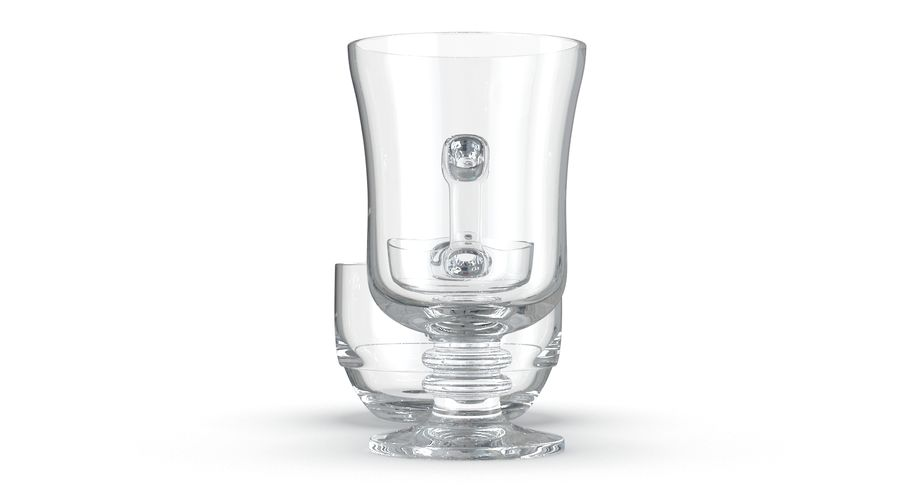 Glass Hot Drink Punch royalty-free 3d model - Preview no. 16