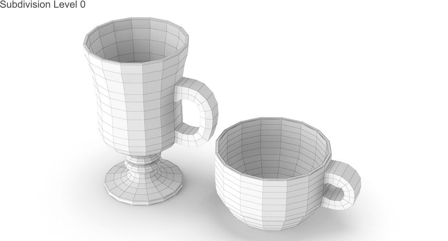 Glass Hot Drink Punch royalty-free 3d model - Preview no. 19
