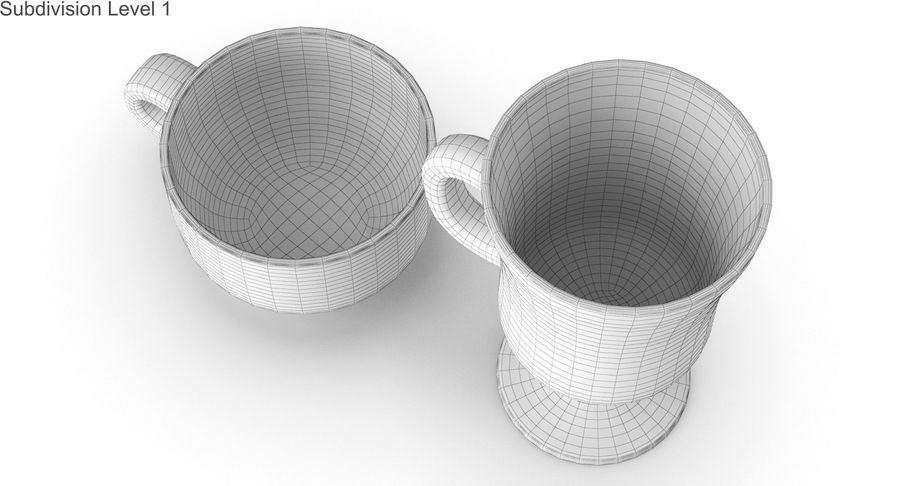 Glass Hot Drink Punch royalty-free 3d model - Preview no. 39