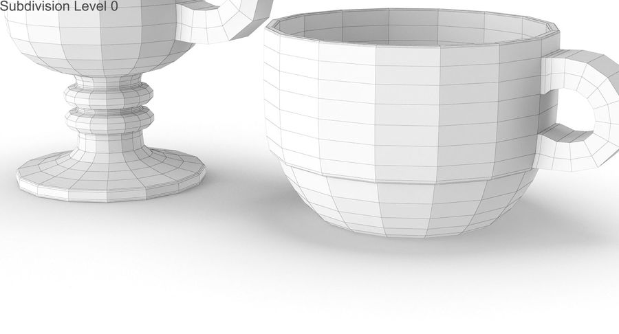 Glass Hot Drink Punch royalty-free 3d model - Preview no. 28