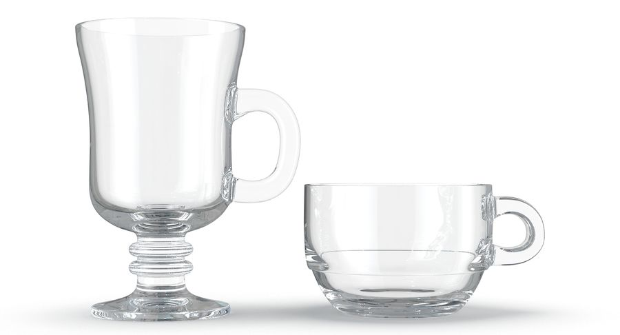 Glass Hot Drink Punch royalty-free 3d model - Preview no. 15