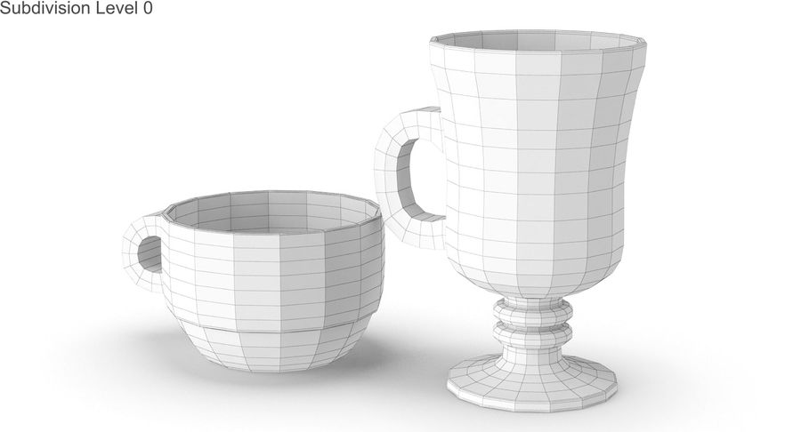 Glass Hot Drink Punch royalty-free 3d model - Preview no. 21