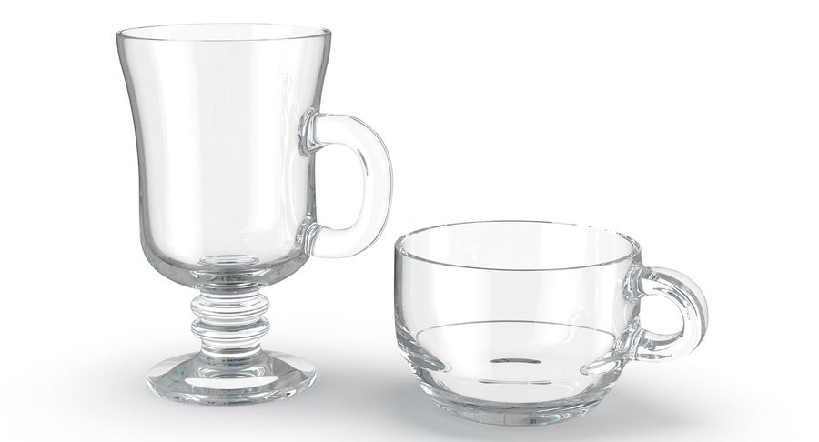 Glass Hot Drink Punch royalty-free 3d model - Preview no. 2