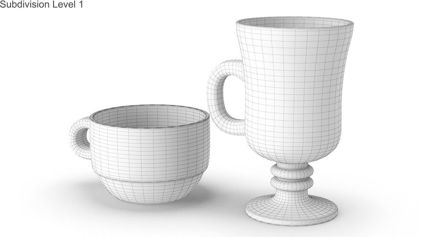 Glass Hot Drink Punch royalty-free 3d model - Preview no. 36