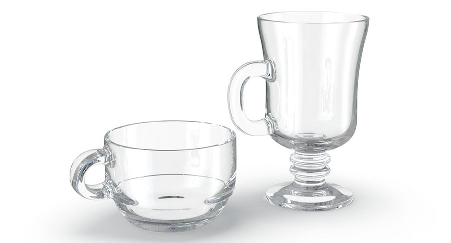 Glass Hot Drink Punch royalty-free 3d model - Preview no. 6