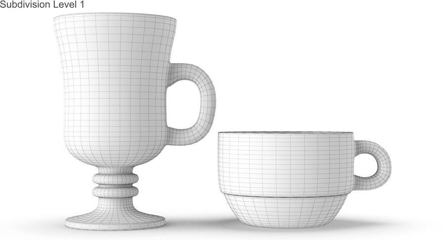 Glass Hot Drink Punch royalty-free 3d model - Preview no. 46