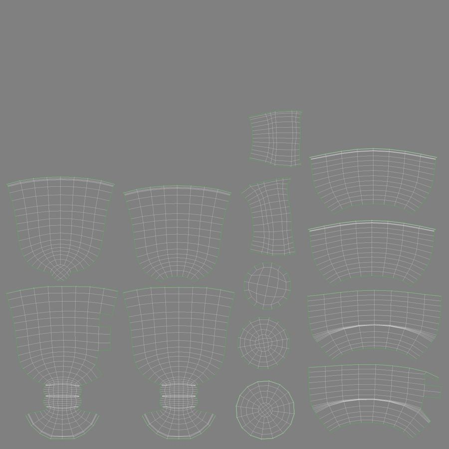 Glass Hot Drink Punch royalty-free 3d model - Preview no. 18