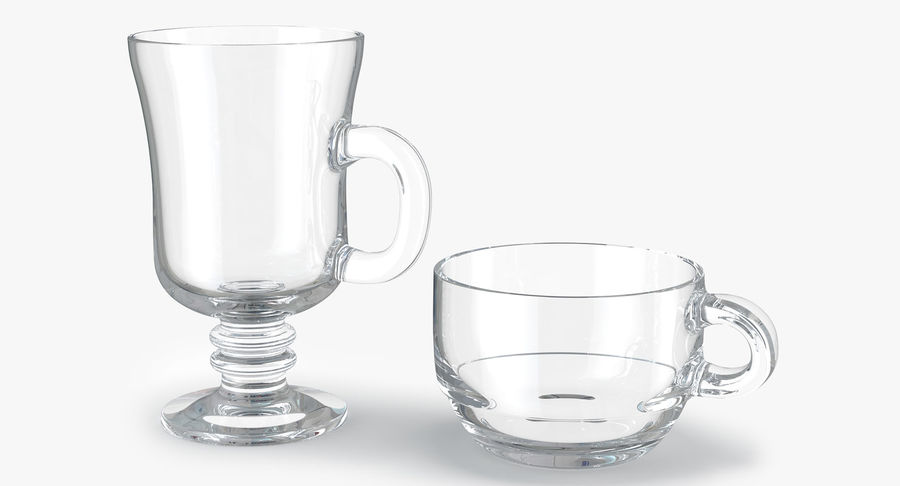 Glass Hot Drink Punch royalty-free 3d model - Preview no. 1