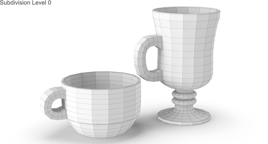 Glass Hot Drink Punch royalty-free 3d model - Preview no. 22