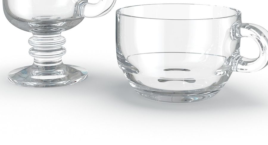 Glass Hot Drink Punch royalty-free 3d model - Preview no. 12