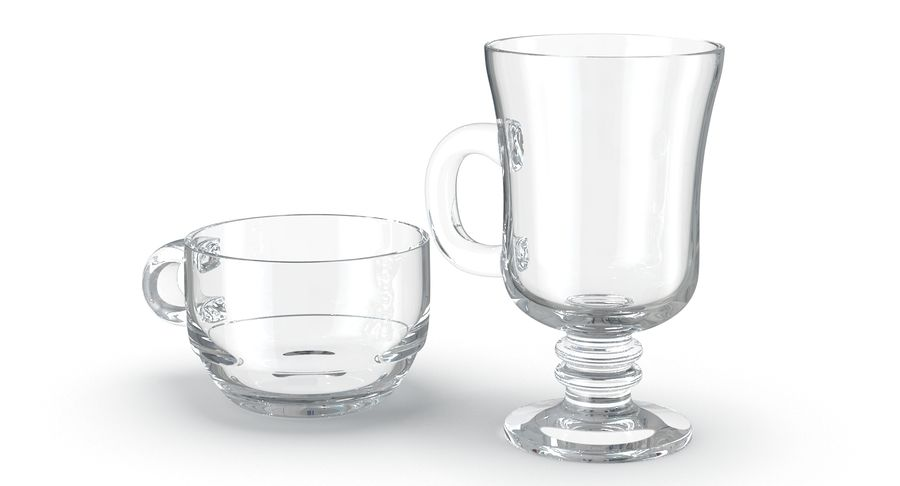 Glass Hot Drink Punch royalty-free 3d model - Preview no. 5