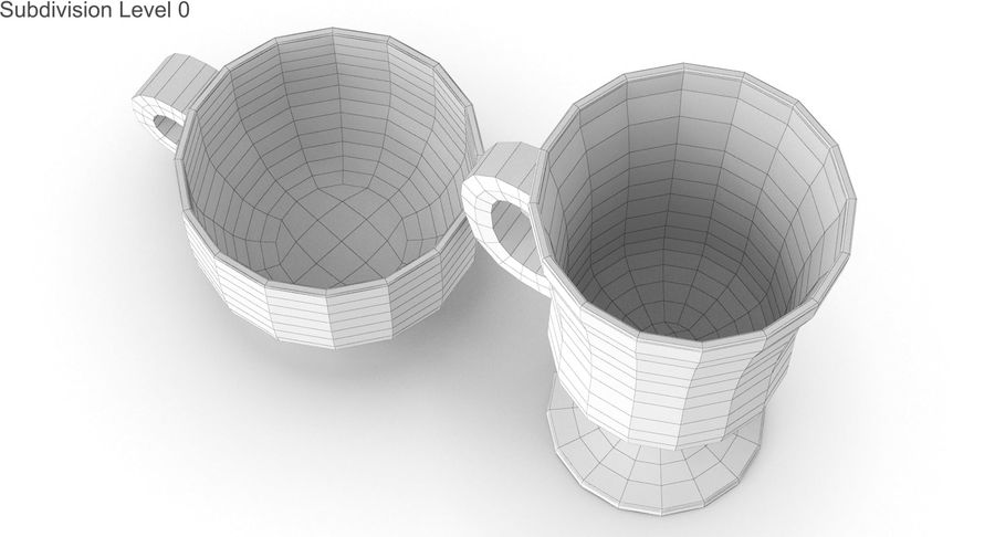 Glass Hot Drink Punch royalty-free 3d model - Preview no. 24