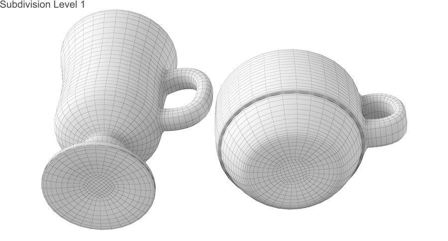 Glass Hot Drink Punch royalty-free 3d model - Preview no. 44
