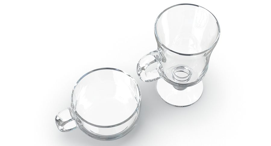Glass Hot Drink Punch royalty-free 3d model - Preview no. 7