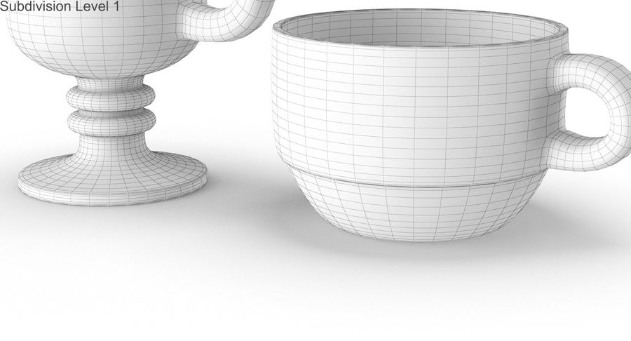 Glass Hot Drink Punch royalty-free 3d model - Preview no. 43